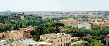 Rome aerial view from Vittorio Emanuele monument Royalty Free Stock Photography