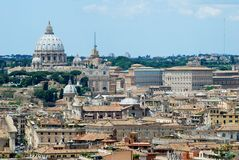 Rome aerial view from Vittorio Emanuele monument Royalty Free Stock Images