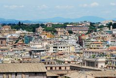 Rome aerial view from Vittorio Emanuele monument Stock Photos
