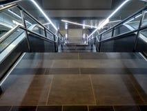 Rome Airport. Escalators illuminated at Rome airport Fiumicino Stock Photography