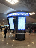 Rome Airport. Information desk at Rome Airport Fiumicino Royalty Free Stock Image