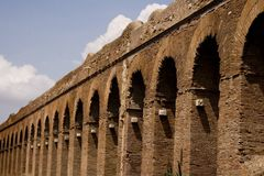 Rome: Alessandrino aqueduct. The aqueduct Alessandrino (Aqua Alexandrina) came realized in the 226 d.C for will of the roman emperor Strict Alexander (11 March royalty free stock photography