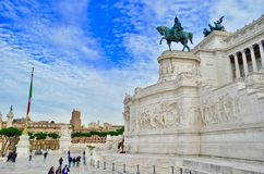 Rome, Altare della Patria. Royalty Free Stock Photo