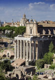 Rome, Ancient roman ruins at the Fori Imperiali. Ancient roman ruins at the Fori Imperiali, Rome. Italy Royalty Free Stock Image