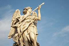 Rome - Angel with the Lance- Angels bridge Stock Image