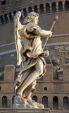 Rome - Angel with the Lance - Angels bridge Stock Photo