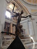 Rome - Angel of Light. Rome, Lazio, Italy - May 30, 2017: bronze sculpture by the Neapolitan artist Ernesto Lamagna inside the Basilica of Santa Maria degli Royalty Free Stock Photo