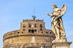 Rome Angel Statue at the Castel Sant Angelo Royalty Free Stock Photography