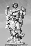 Rome - Angel with the whips - Ponte Sant'Angelo - Angels bridge - designed by Lazzaro Morelli Royalty Free Stock Photo