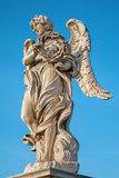 Rome - Angels bridge - Angel with the thorn crown Stock Photos