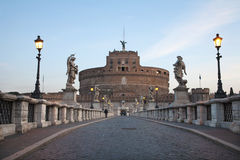 Rome - Angels bridge and castle Royalty Free Stock Photography