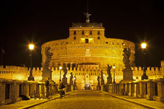 Rome - Angels castle and bridge Stock Photo
