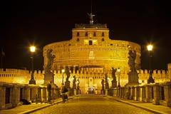 Rome - Angels castle and bridge Stock Photo