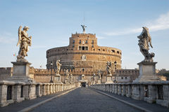 Rome - Angels castle and bridge in morning Royalty Free Stock Photos