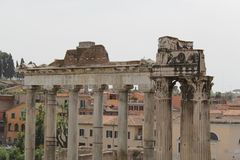 Rome antique architecture photography. Good for any design or project Royalty Free Stock Images