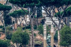 Rome antique  architecture ruins Italy capital City Royalty Free Stock Photos