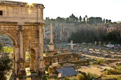 rome antyczne ruiny Zdjęcia Royalty Free