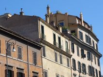 Rome Apartment Buildings Stock Images