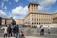 Piazza Venezia, Rome Royaltyfria Bilder