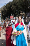 ROME - APRIL 22: Participants of  historic-dress procession prep Stock Photo