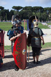 ROME - APRIL 22: Participants of  historic-dress procession prep Stock Image