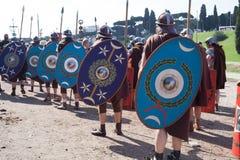 ROME - APRIL 22: Participants of  historic-dress procession prep Stock Image