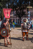 ROME - APRIL 22: Participants of  historic-dress procession prep Royalty Free Stock Image