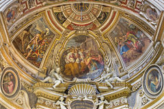 Rome - apse of side chapel of St. John in church Chiesa di Santo Spirito in Sassia by Marcelo Venusti (1510 - 1579) Stock Photography