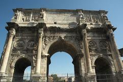 Rome arch. The arch of at the end of the palatine hill stock images