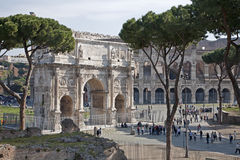 Rome - Arch of Constantine from year 315 Royalty Free Stock Images