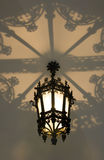 Rome architecture decorative lamp openwork shade Stock Images