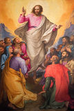 Rome - The Ascension of the Lord painting in church Chiesa Nuova by Gerolamo Muziano (1532 - 1592). ROME, ITALY - MARCH 26, 2015: The Ascension of the Lord Stock Images