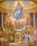 Rome - The Assumption fresco by Daniele da Volterra (1584 - 1550) in church Chiesa della Trinita dei Monti. Royalty Free Stock Images