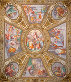 Rome -  'Assumption of the Virgin' by Domenichino on the ceiling of side chapel of Basilica di Santa Maria in Trastevere Stock Photos