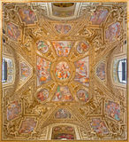Rome - 'Assumption of the Virgin' by Domenichino on the ceiling of side chapel of Basilica di Santa Maria in Trastevere. Stock Photography