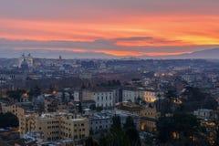 Rome au lever de soleil Photos stock