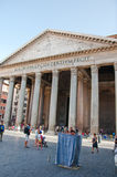 ROME-AUGUST 6 :2013年8月6日的万神殿在罗马,意大利。 库存照片