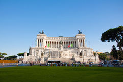 ROME-AUGUST 5:The Altare della Patria on August 5, 2013 in Rome, Italy. Royalty Free Stock Photo