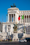 ROME-AUGUST 5:The Altare della Patria on August 5, 2013 in Rome, Italy. Stock Photos