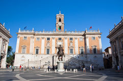 ROME-AUGUST 5: The Capitoline Hill and Piazza del Campidoglio on August 5 in Rome, Italy. Royalty Free Stock Images
