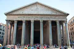 ROME-AUGUST 6: The Pantheon on August 6, 2013 in Rome, Italy. Royalty Free Stock Photography