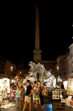 ROME-AUGUST 7: Piazza Navona on August 7, 2013 in Rome. Royalty Free Stock Photography