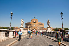 ROME-AUGUST 8: Castle of the Holy Angel on August 8,2013 in Rome, Italy. Stock Photo