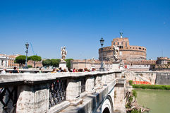 ROME-AUGUST 8: Castle of the Holy Angel on August 8,2013 in Rome, Italy. Royalty Free Stock Photos