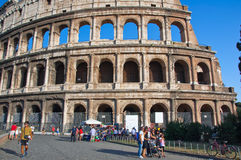ROME-AUGUST 8: The Colosseum on August 8,2013 in Rome, Italy. Stock Photography