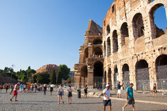 ROME-AUGUST 8: The Colosseum on August 8,2013 in Rome, Italy. Stock Image