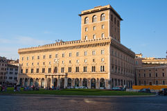 ROME-AUGUST 8: The Palazzo di Venezia on August 8, 2013 in Rome, Italy. The Palazzo di Venezia is a palace in central Rome, just north of the Capitoline Hill Stock Photos