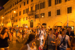 ROME-AUGUST 6: Nightlife in Rome on August 6,2013, Italy. Stock Images