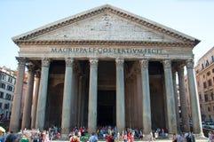 ROME-AUGUST 6: Panteon på Augusti 6, 2013 i Rome, Italien. Royaltyfri Fotografi
