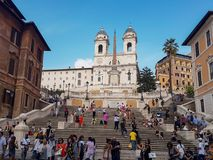 Piazza di Spagna in Rome. royalty free stock photography
